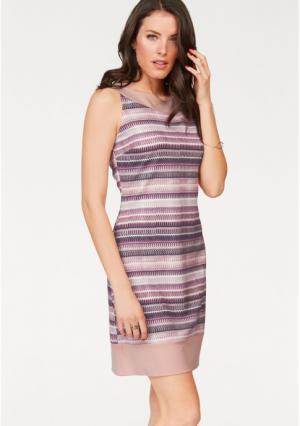 Платье-футляр VIVANCE. Цвет: розовый/лиловый/бежевый/телесный/черный