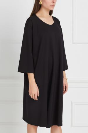 Однотонное платье Studia Pepen. Цвет: черный