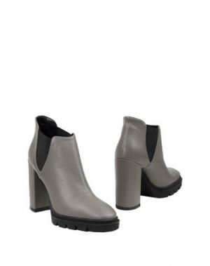 Ботинки LEONARDO PRINCIPI. Цвет: серый