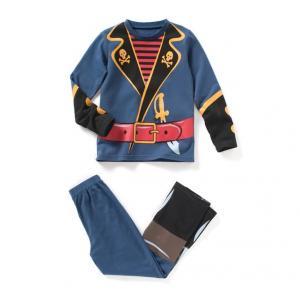 Пижама из джерси с ярким принтом R kids. Цвет: темно-синий