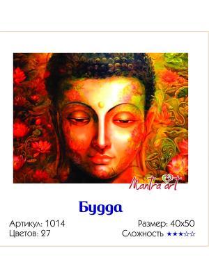 Живопись на холсте Будда + диск в подарок MantraArt. Цвет: белый