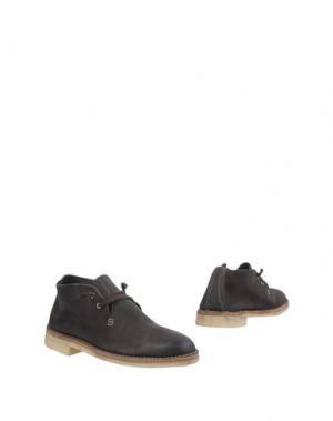 Полусапоги и высокие ботинки N.D.C. MADE BY HAND. Цвет: темно-коричневый