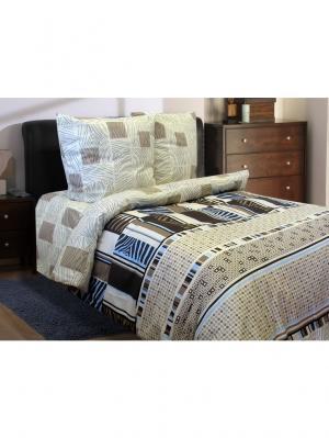 Комплект постельного белья,2-спальный Блакiт. Цвет: темно-коричневый, коричневый