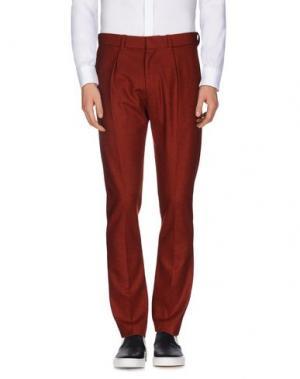 Повседневные брюки PETAR PETROV. Цвет: ржаво-коричневый