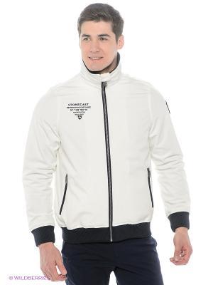 Куртка Stonecast. Цвет: молочный, темно-синий