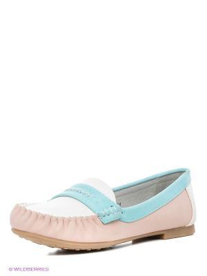 Мокасины Betsy. Цвет: розовый, голубой