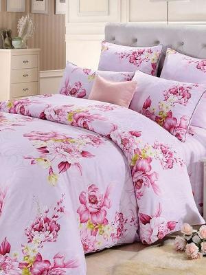 Комплект постельного белья, Розы Ангелика, Семейный KAZANOV.A.. Цвет: розовый