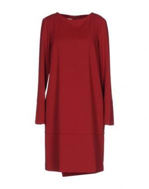 Короткое платье GARAGE NOUVEAU. Цвет: кирпично-красный