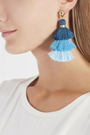 Серьги-кисточки Lisa Smith. Цвет: синий