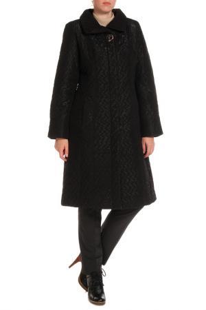 Пальто Klaris. Цвет: черный