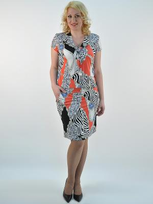 Платье Forus. Цвет: черный, синий, светло-коралловый, белый