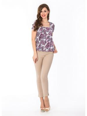 Блузка Sun&Art. Цвет: белый, серый, розовый