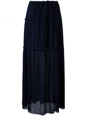 Длинная плиссированная юбка See By Chloé. Цвет: чёрный