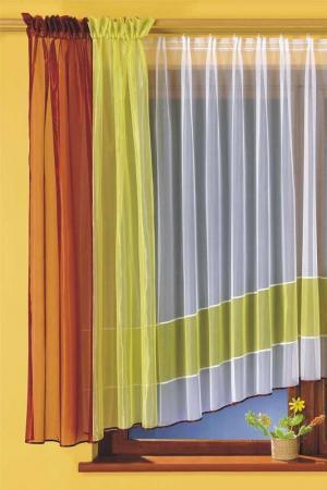 Комплект штор кухня WISAN. Цвет: салатовый, бордовый