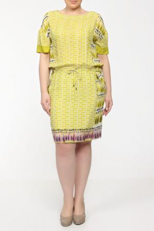 Платье For.Me Elena Miro. Цвет: салатовый, сиреневый, принт