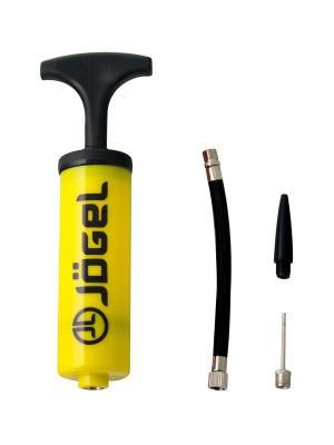 Насос  JA-101 (16см), гибкий шланг, игла, насадка для фитбола Jogel. Цвет: желтый