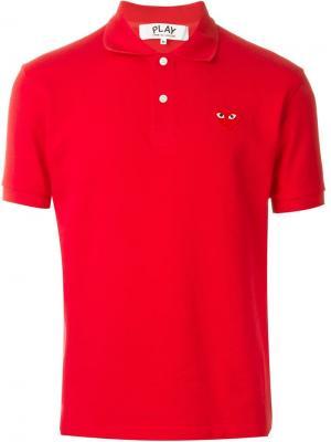 Футболка с вышивкой логотипа Comme Des Garçons Play. Цвет: красный