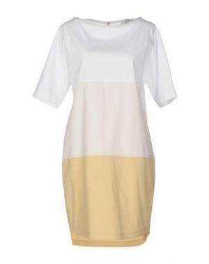 Короткое платье ANTONELLI. Цвет: бежевый