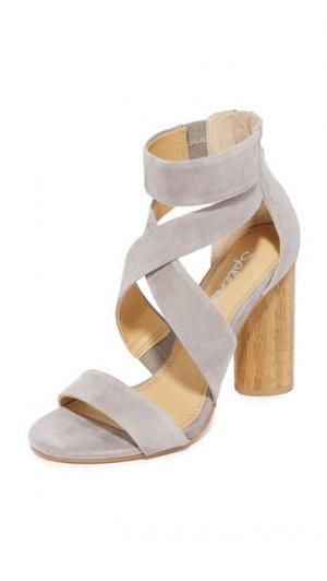 Босоножки на каблуках Jara Splendid. Цвет: серый