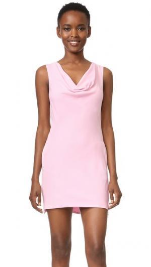 Платье из ткани Versace. Цвет: розовый