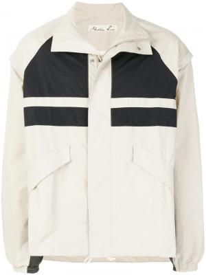 Спортивная куртка со вставками Martine Rose. Цвет: телесный