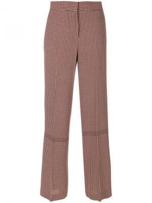 Расклешенные брюки в ломаную клетку Paul Smith. Цвет: красный