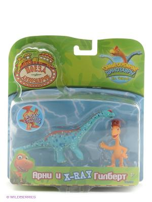 Поезд Динозавров, игровой набор 1Toy. Цвет: зеленый