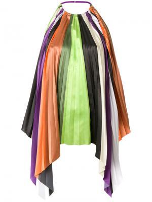 Расклешенная блузка в полоску Ssheena. Цвет: многоцветный