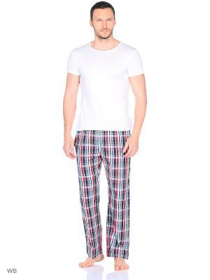 Домашние брюки YC COTTON. Цвет: черный, красный