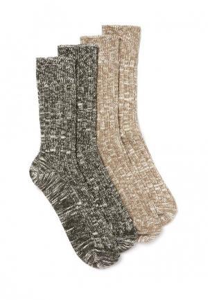Комплект носков 2 пары Topman. Цвет: разноцветный