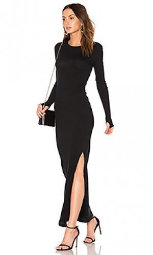 Кашемировое макси-платье Enza Costa. Цвет: черный