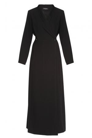 Платье из искусственного шелка и вискозы 182761 Cyrille Gassiline. Цвет: черный