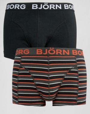 Bjorn Borg Комплект из 2 боксеров-брифов. Цвет: черный