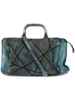 Текстурированная сумка на плечо Numero 10. Цвет: синий