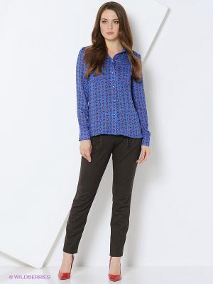 Блуза MARY MEA. Цвет: синий, красный