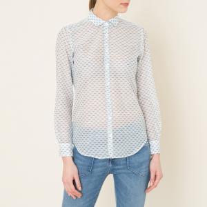 Рубашка с рисунком HARTFORD. Цвет: белый/ синий