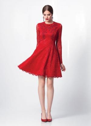 Платье  черное кружевное арт. 4796 Burvin