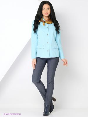Куртка HARTWEAR. Цвет: голубой, светло-голубой
