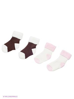 Носки, 2 пары lap n cap. Цвет: кремовый
