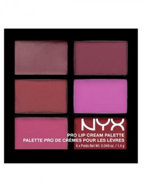 Палетка помады для губ. PRO LIP CREAM PALETTE - VAMPS 04 NYX PROFESSIONAL MAKEUP. Цвет: сиреневый