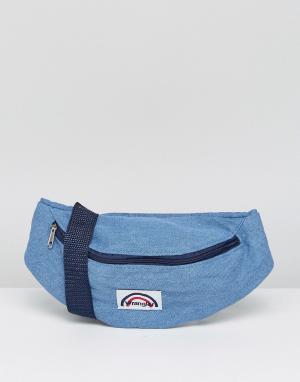 Wrangler Джинсовая сумка-кошелек на пояс с логотипом. Цвет: синий