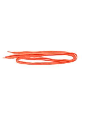 Шнурки плоские для обуви, 100 см Eleon. Цвет: оранжевый