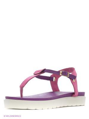 Сандалии Dino Ricci. Цвет: розовый, фиолетовый