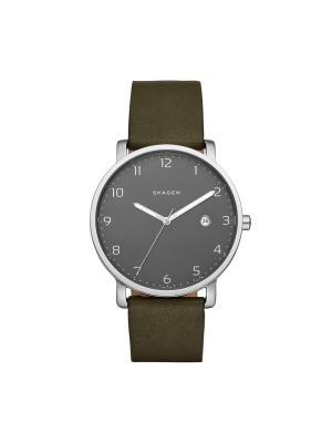 Часы SKAGEN. Цвет: серебристый, серый, темно-зеленый