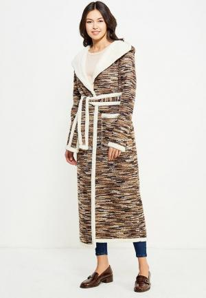 Пальто Kristina Kapitanaki. Цвет: коричневый