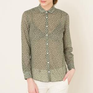 Рубашка с рисунком HARTFORD. Цвет: хаки