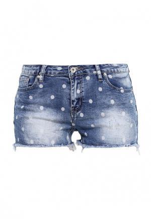 Шорты джинсовые Kiss Pink. Цвет: синий