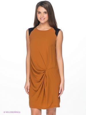 Платье Vero moda. Цвет: коричневый, черный