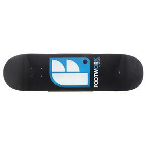 Дека для скейтборда  Original Logo Black 32.2 x 8.5 (21.6 см) Footwork. Цвет: белый,черный,голубой
