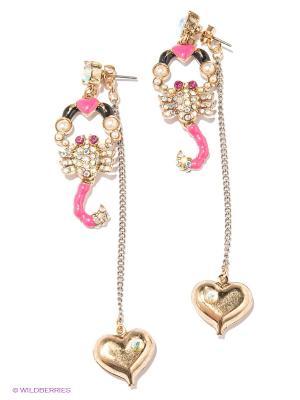 Серьги Milana Style. Цвет: золотистый, розовый